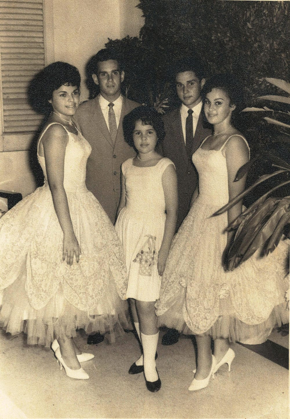 The last picture Cary's mother Mercedes took with Pepe, in June of 1964 before she and her family left Cuba. Mercedes is the girl to the left and Pepe is the tallest boy standing next to her.