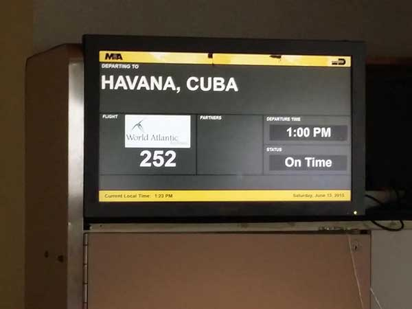 1a Departure to Havana, Miami airport, June 2015