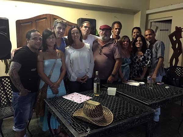 1a Gathering with writers and musicians, Cienfuegos, Cuba,