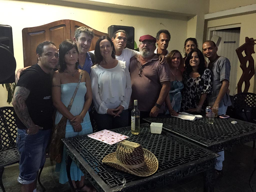 z-Gathering with writers and musicians, Cienfuegos, Cuba,